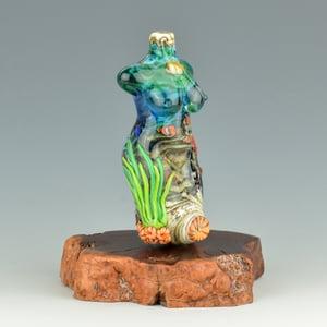 Image of XXXL. Clownfish Coral Reef Goddess - Flamework Glass Sculpture