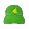 """1 of 1 Neon green """"Fin"""" dad hat"""