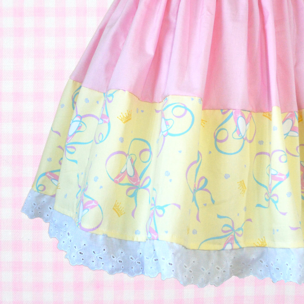 Two Tone Skirt - Pink x Ballet