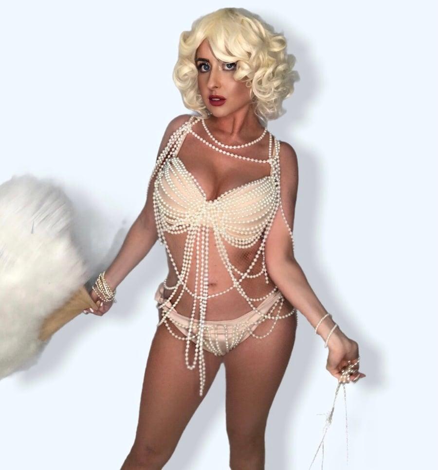 Image of Christina Aguilera Burlesque Cosplay Pearl Costume