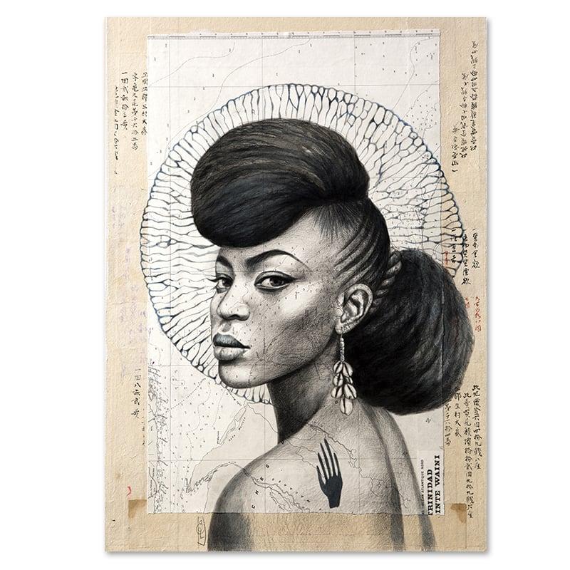"""Image of Paper Art Print - """"Trinidad en N&B"""""""