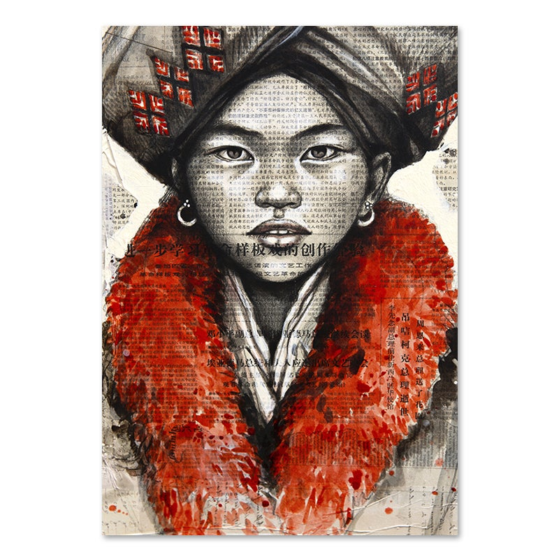 "Image of Paper Art Print - ""Yao"""