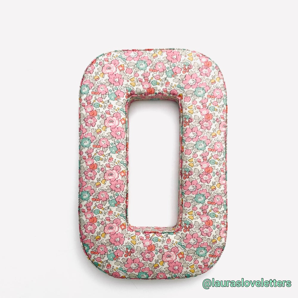 Image of PREMIUM FABRIC LETTER WITH NAMETAG