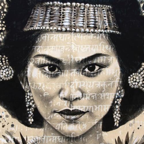 "Image of Paper Art Print - ""Toraja Princess"""