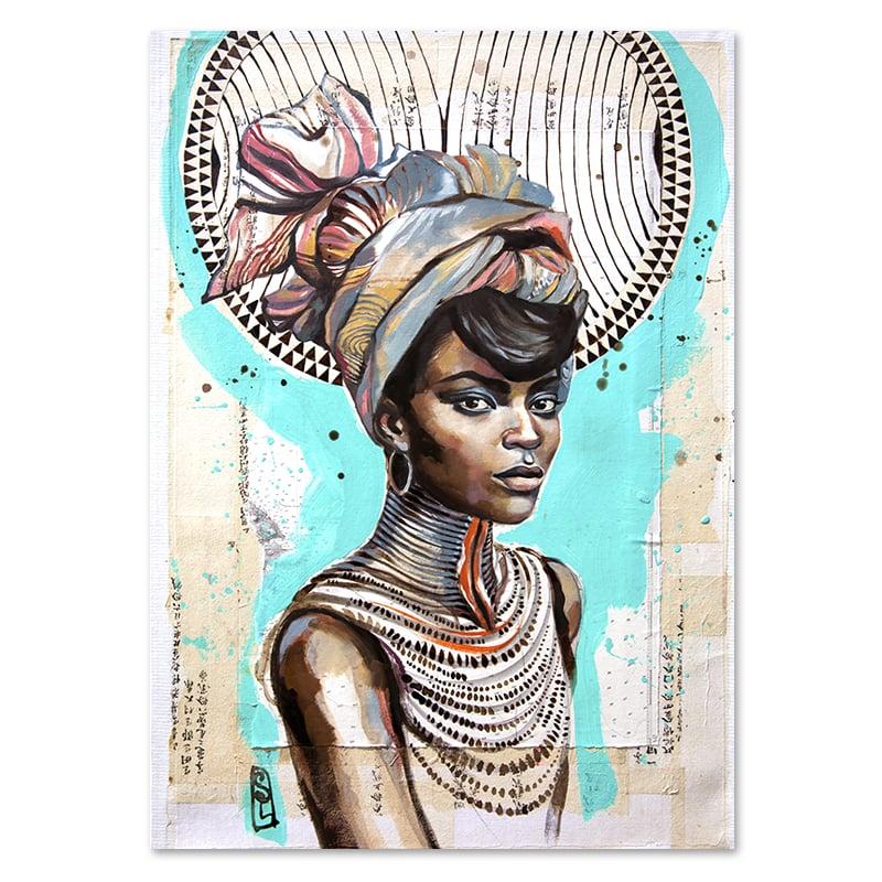 "Image of Paper Art Print - ""Dinka"""