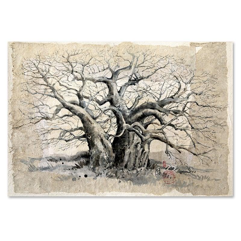 "Image of Paper Art Print - ""Double baobab"""