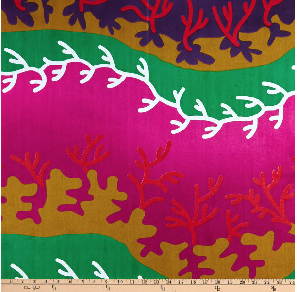 Image of Ankara Print Ndumiso Red/White Shade 30cm