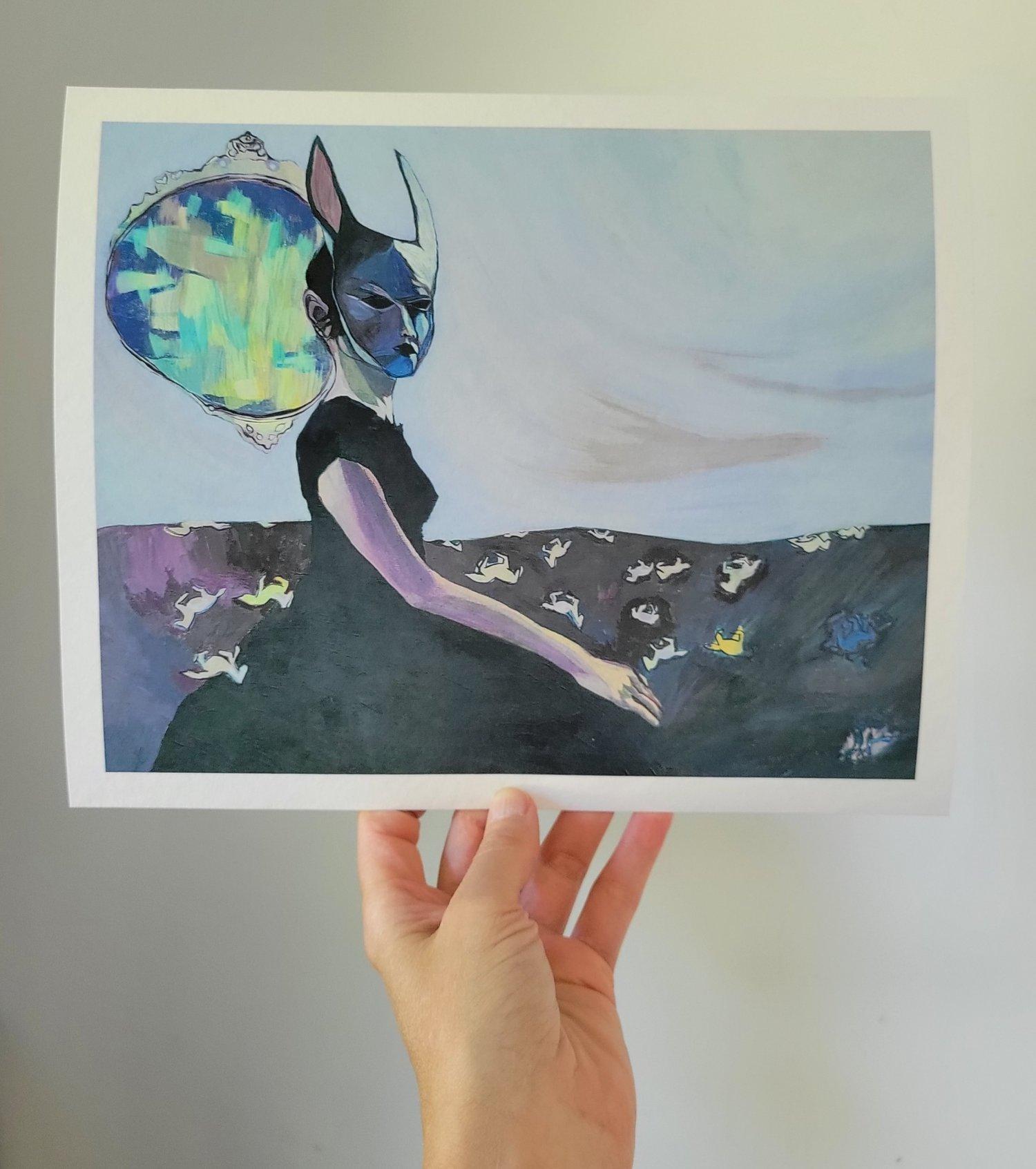Image of Bunny girl Print