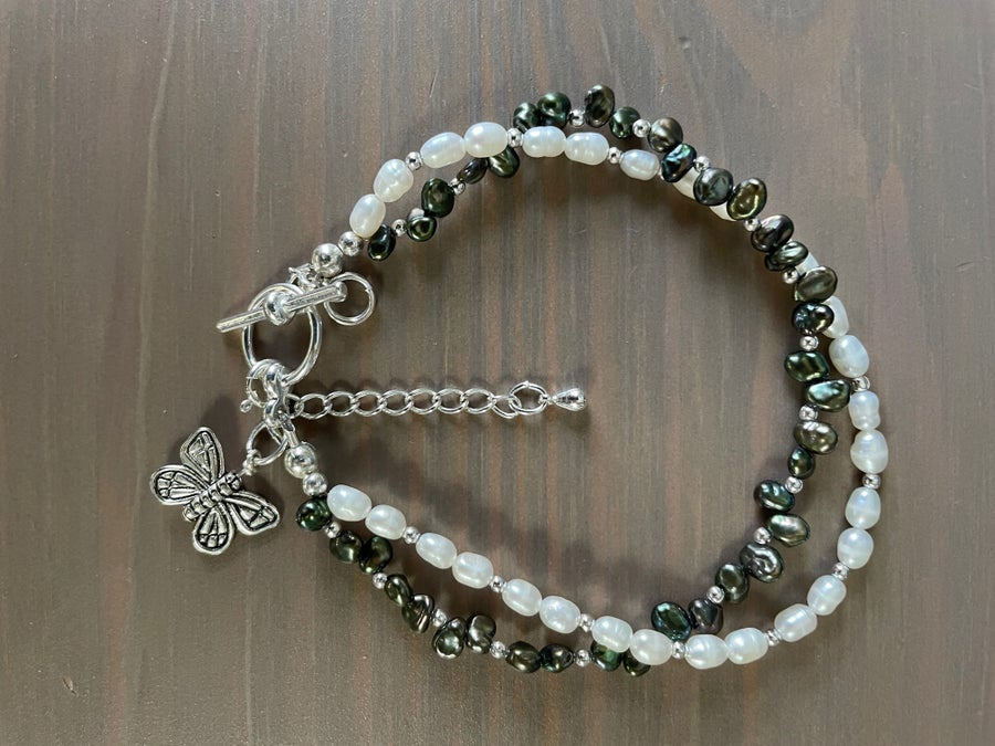 Image of Black & White Butterfly Bracelet
