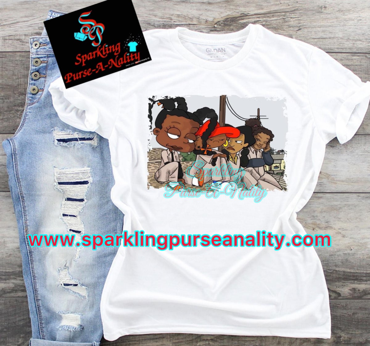 Image of Set It Off Cartoon Shirt