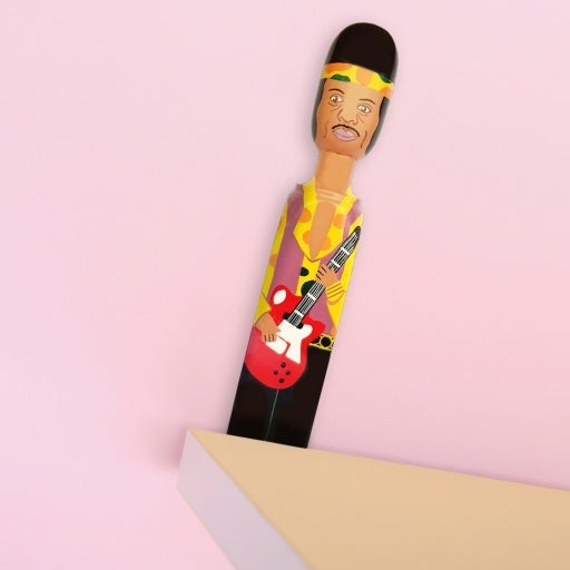 Door Stop 'Hendrix' Hand Painted Wood