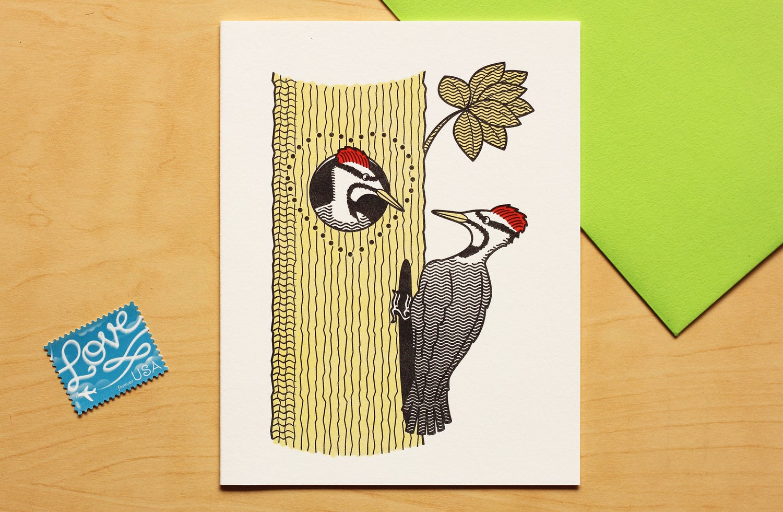 Image of Woodpecker Love Card