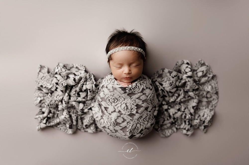 Image of Plush Floral Lace Wrap