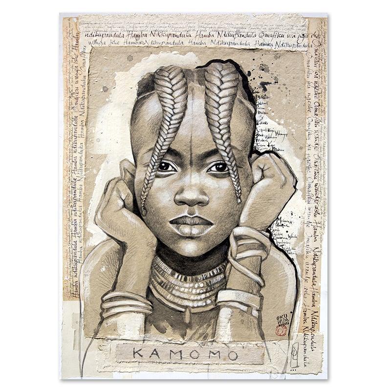 "Image of Canva Art Print - ""Kamomo"""