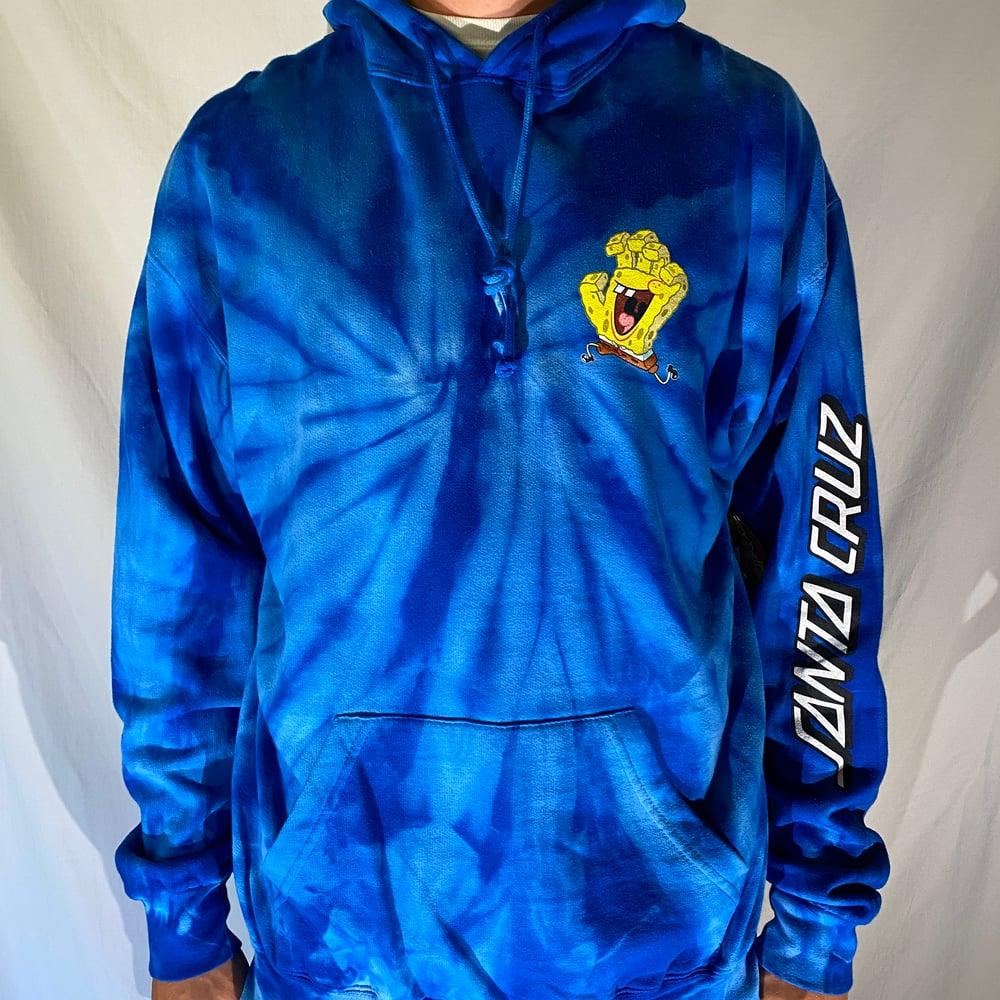 Santa Cruz x Spongebob tie-dye hoodie