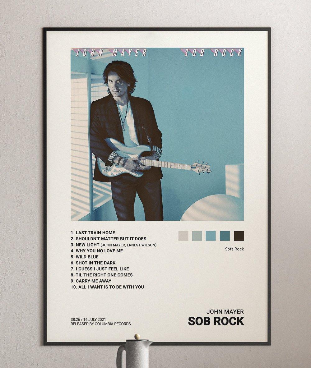 John Mayer - Sob Rock Album Cover Poster