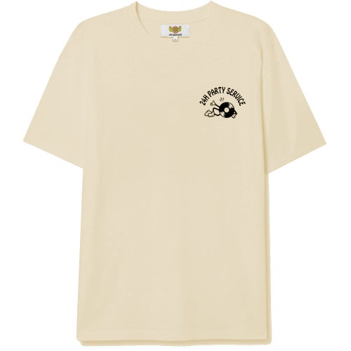"""Image of andhim's """"24h Party Service"""" Shirt - beige"""