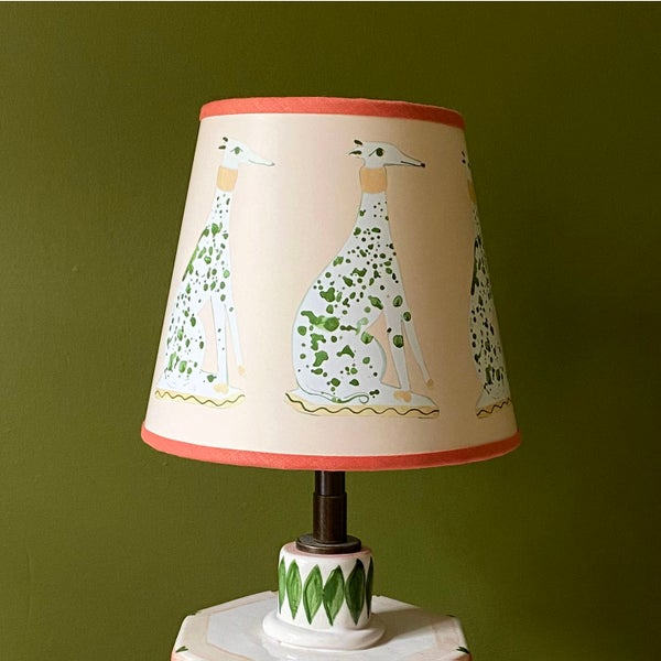 Image of Green Whippet Lampshade