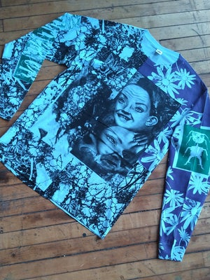 Image of Blue Dolly Floral Longsleeve [LARGE]