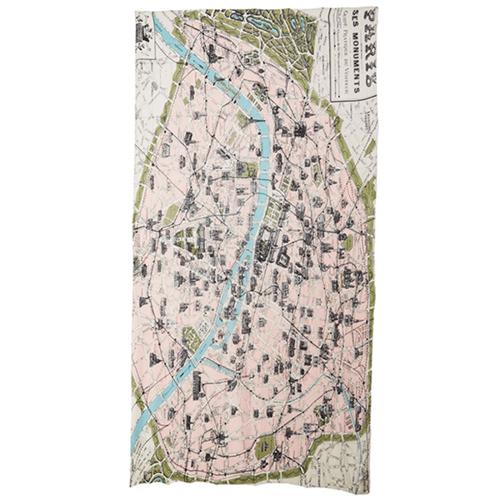 Image of Paris Map Scarf