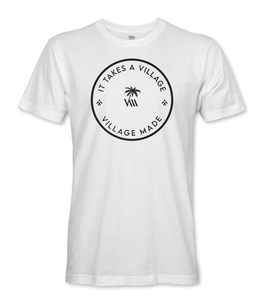 Image of It Takes A Village Stamp - White Tshirt