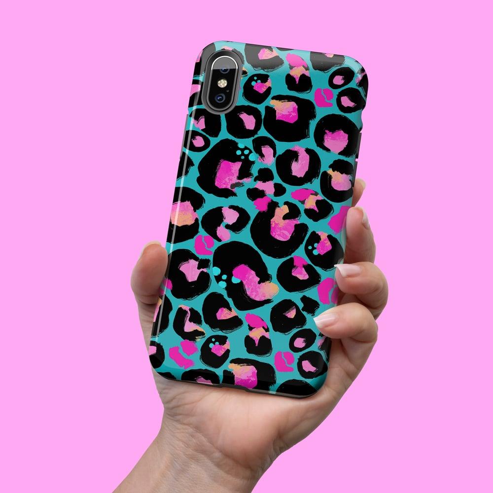 Image of KASEY-KASE | Turquoise Pink Leopard