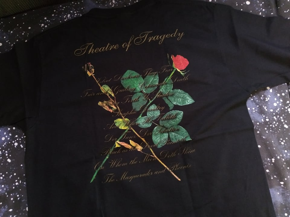 Theatre Of Tragedy Velvet Darkness They Fear T-SHIRT *Imported*