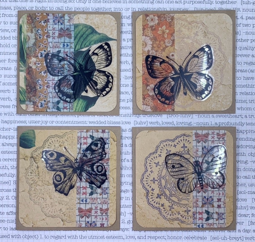 Image of butterfly gift card - neutrals
