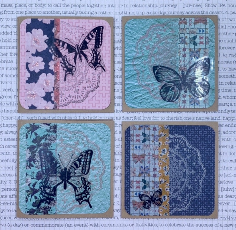 Image of butterfly gift cards - brights