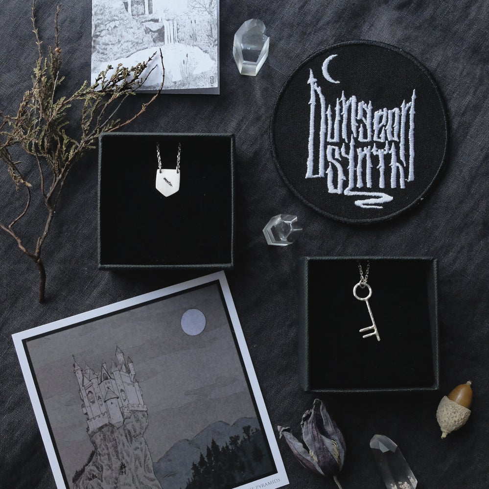 Image of LAST ONE! OUBLIETTES. DUNGEON SYNTH KIT ↟ Collab Gwendolinoleum: sterling jewel + DS patch + print