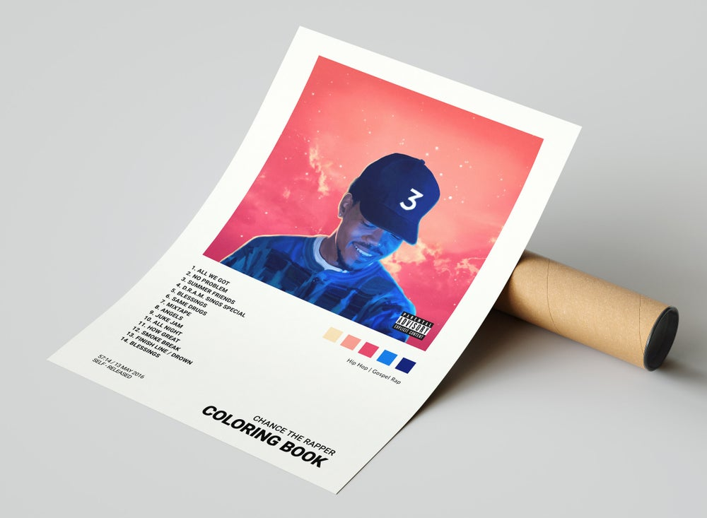 Chance the Rapper - Coloring Book Album Cover Poster