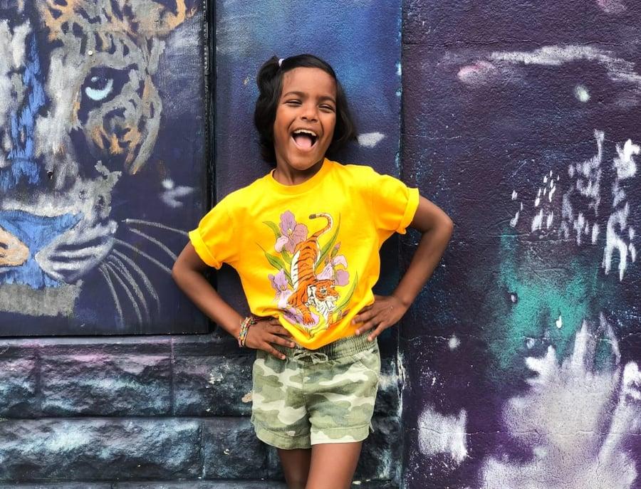 Image of Youth Tiger Iris Short Sleeve Tee