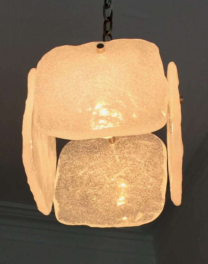 Image of Foam Glass Pendant Light by Kalmar, Austria (2 available)