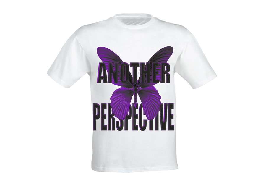 Image of Purple Chrome Butterfly T-Shirt