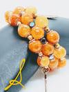 """Original """"Rich Orange Faceted Agate Stones"""" Wrap Bracelet"""