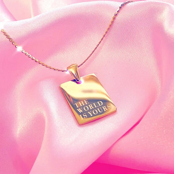"""Image of """"The World Is Yours"""" Necklace"""