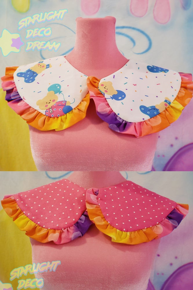 Image of REVERSIBLE PJ Party Bears Detachable Collar / A
