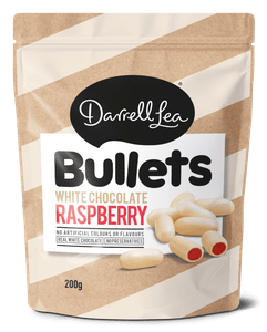 Image of White Chocolate Raspberry Bullets 200g