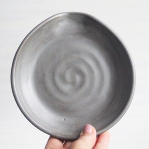 Image of Reserved for Patricia - Large Utensil Holder and Spoon Rest in Modern Satin Gray Glaze