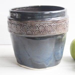 Image of Reserved for Kara - Custom Extra Large Utensil holder in Modern Rustic Glaze