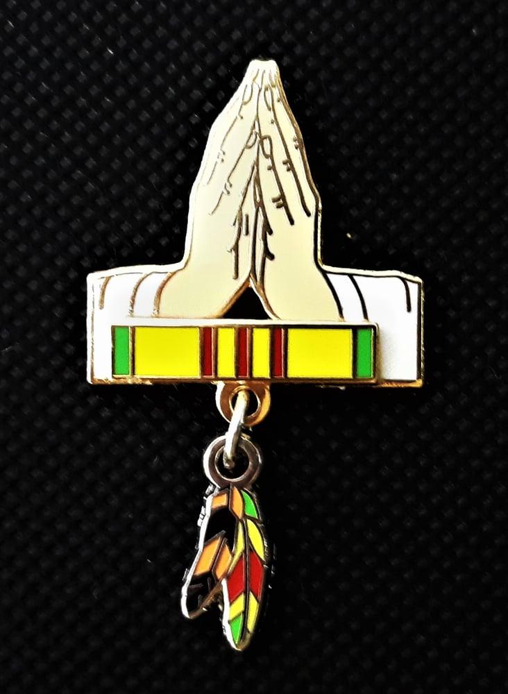 Image of Vietnam Veteran/Agent Orange Praying Hands pin