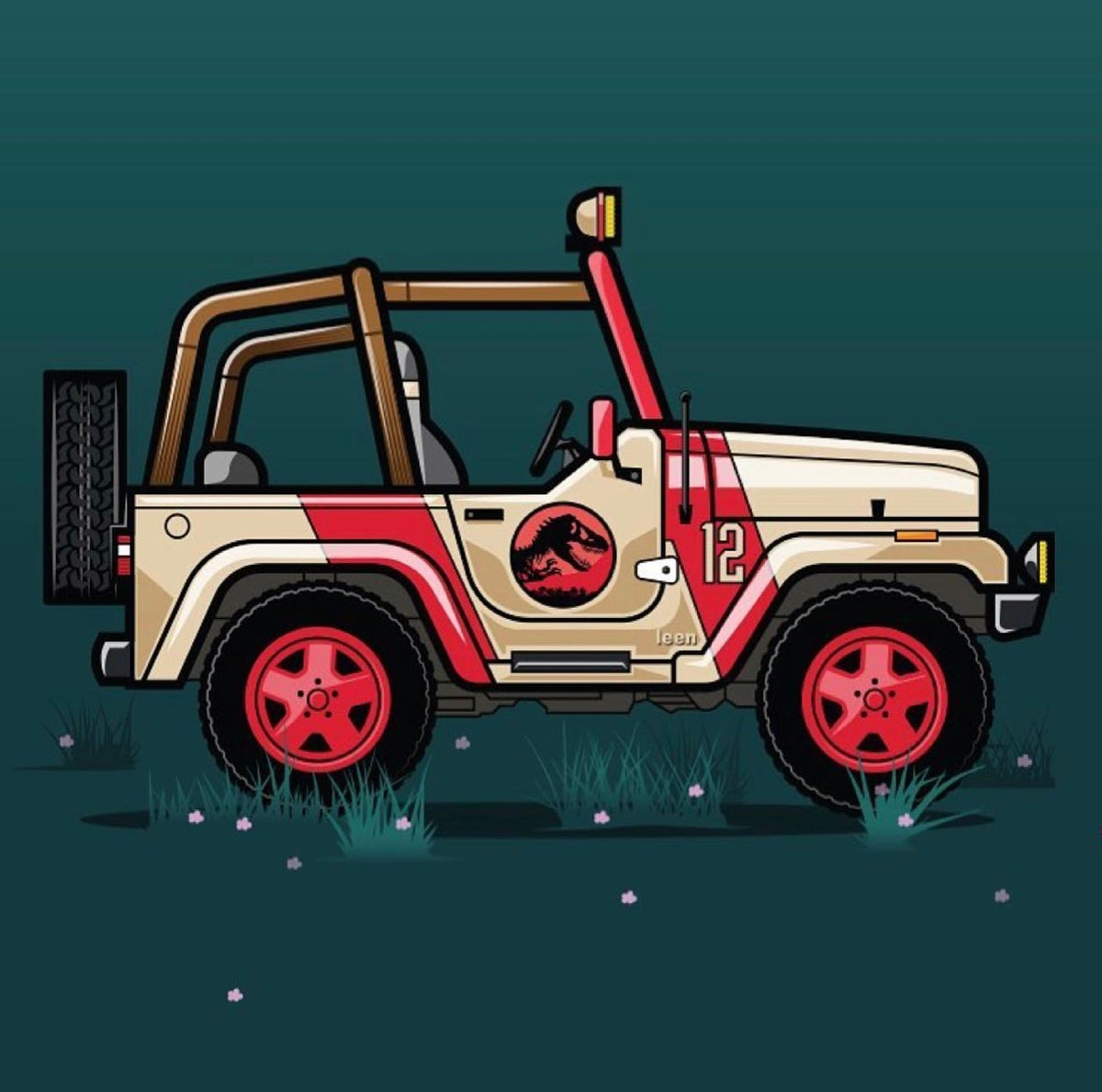 Image of Welcome to Jurassic Park - Jeep 12
