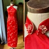 Red China Doll Dress Small