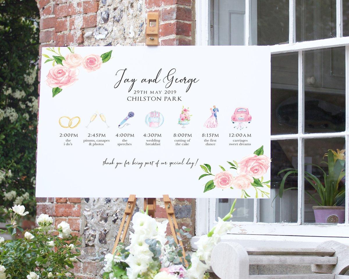 Blush Floral Timeline