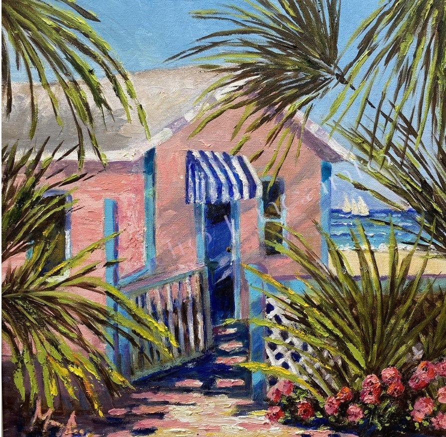Image of Palm Tree Cottage by Mary Rose Holmes