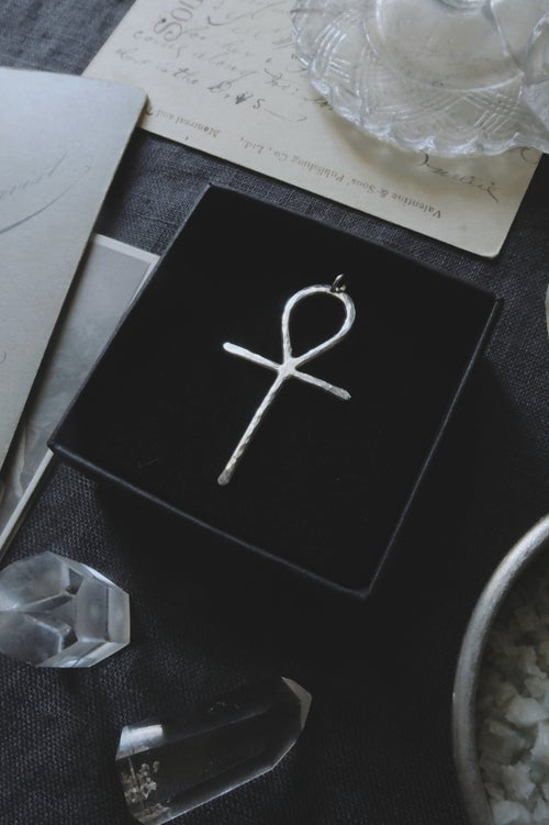Image of ÂNKH. ANCIENT EGYPT TALISMAN ↟ recycled silver - eternal life symbol - N. Gaiman's Death inspired