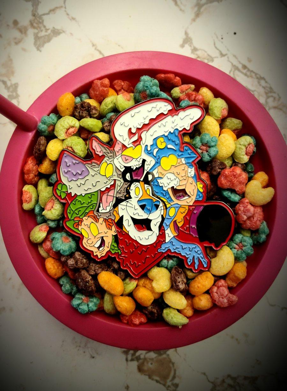 Image of 4 Inch Cereal Killa Enamel Pin LE 100