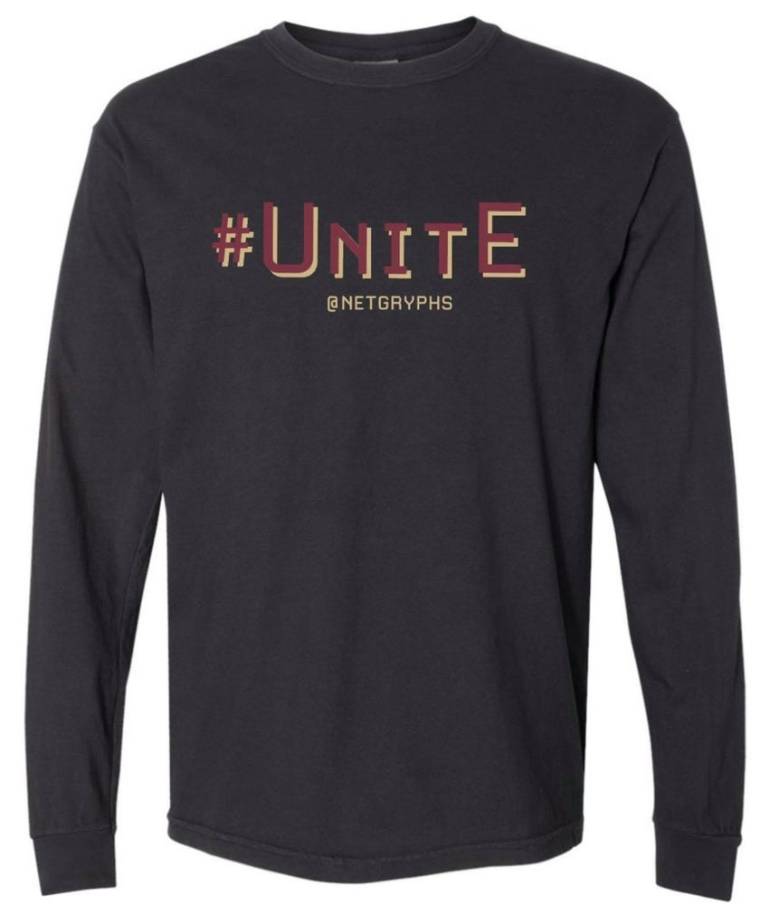 Image of #UNITE -SG Long Sleeve Softstyle Shirt (BLACK)
