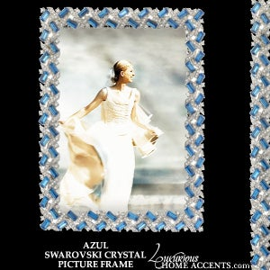 Image of Azul Swarovski Crystal Picture Frame
