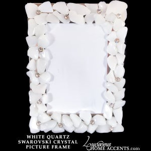 Image of Dazzle White Quartz and Swarovski Crystal Frame